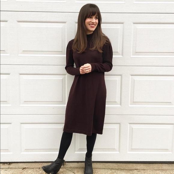 Nina Leonard Dresses & Skirts - Vintage Maroon turtleneck sweater dress medium